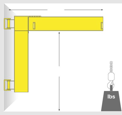 Wall Mounted Cantilever Jib Crane